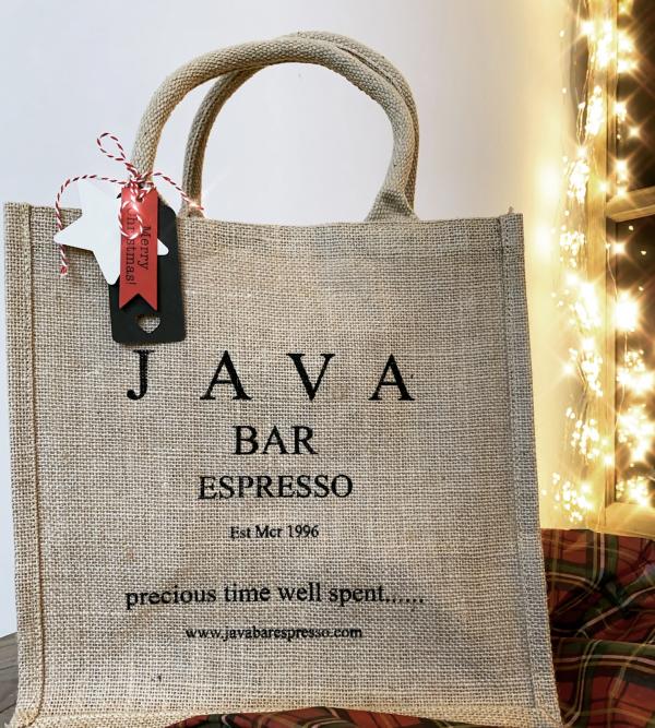 Classic Java Bar Espresso Jute Bag